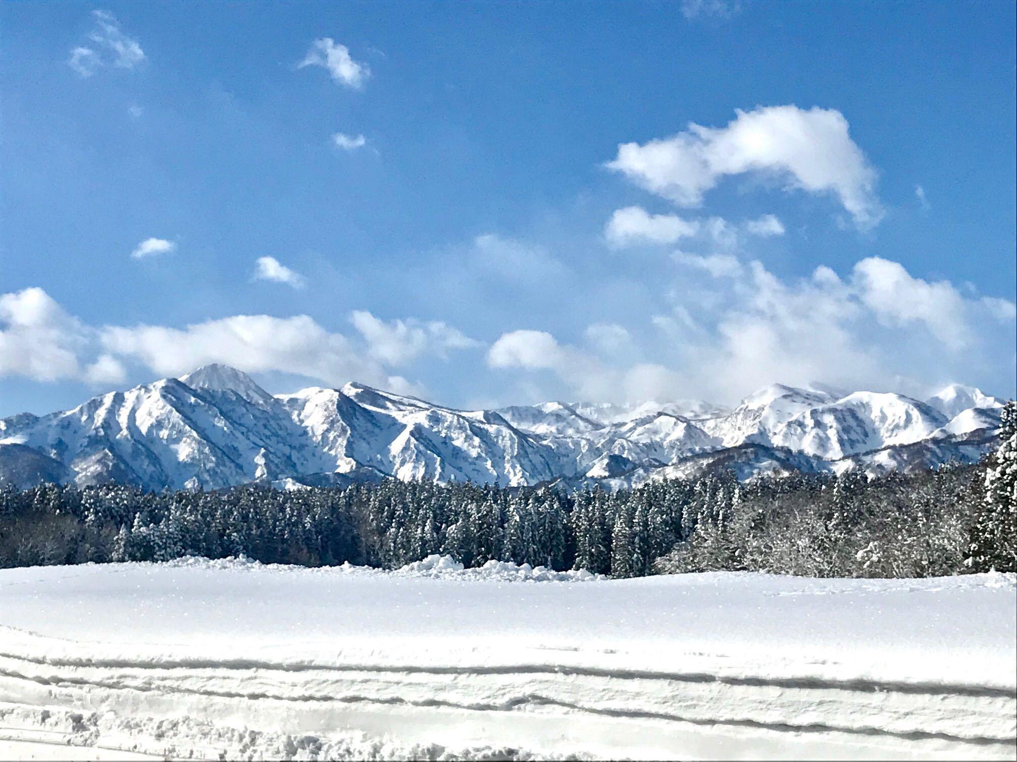 真冬の妙高山系